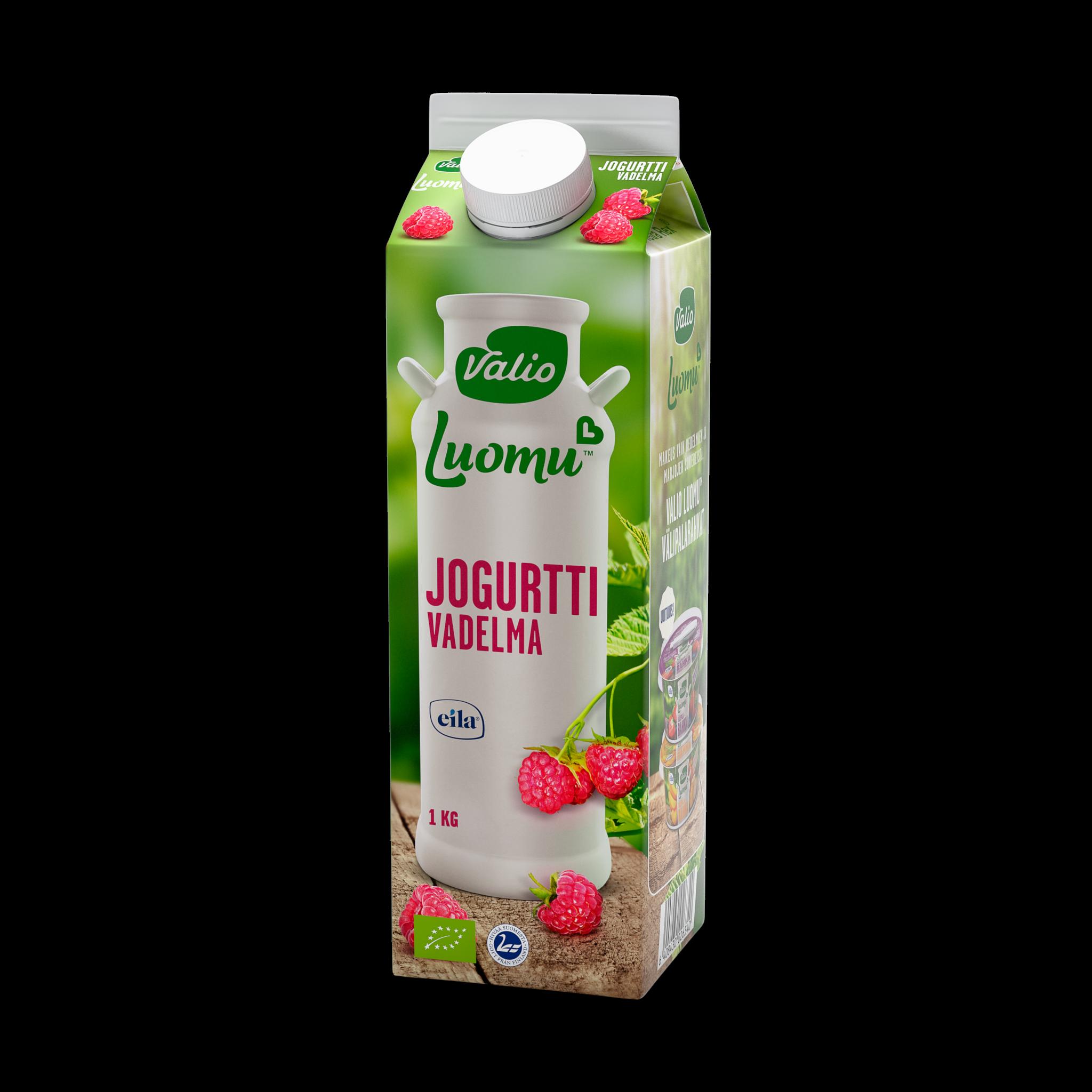 Valio Luomu™ jogurtti vadelma laktoositon