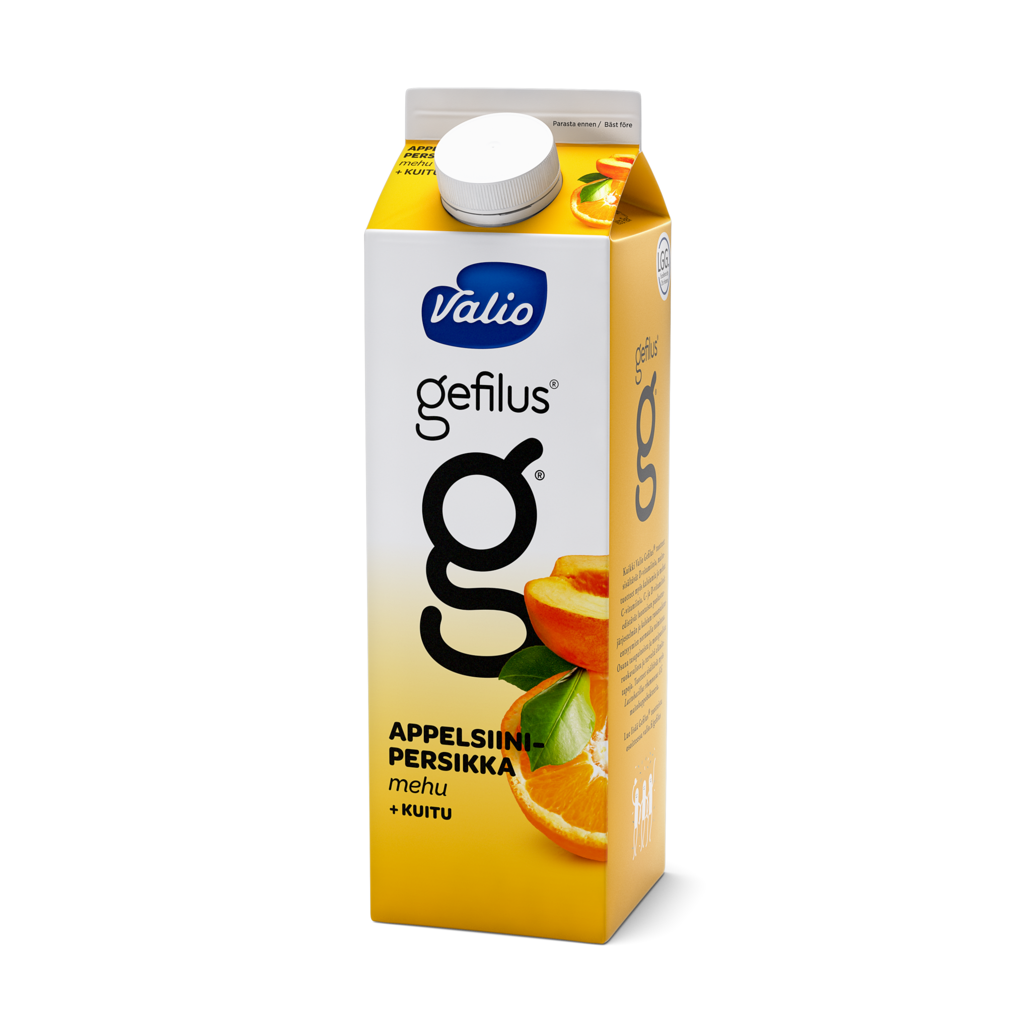 Valio Gefilus® mehu appelsiini-persikka+kuitu