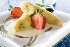 Grillatut banaanit & vaniljakastike