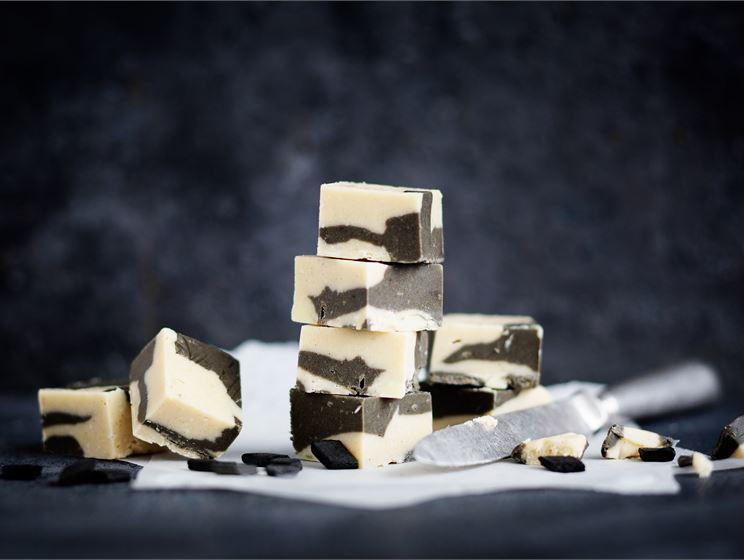 Salmiakki-vaniljafudge