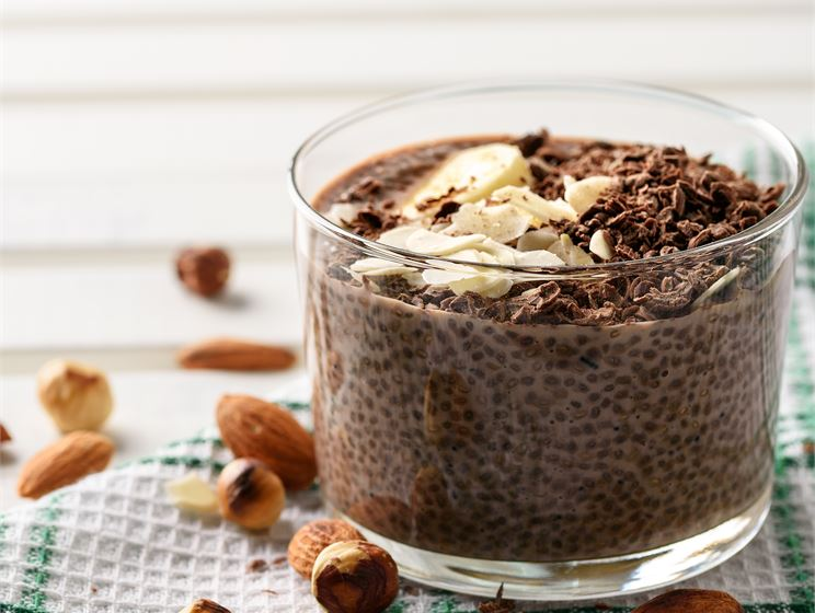 Chia med choklad- och hallonsmak
