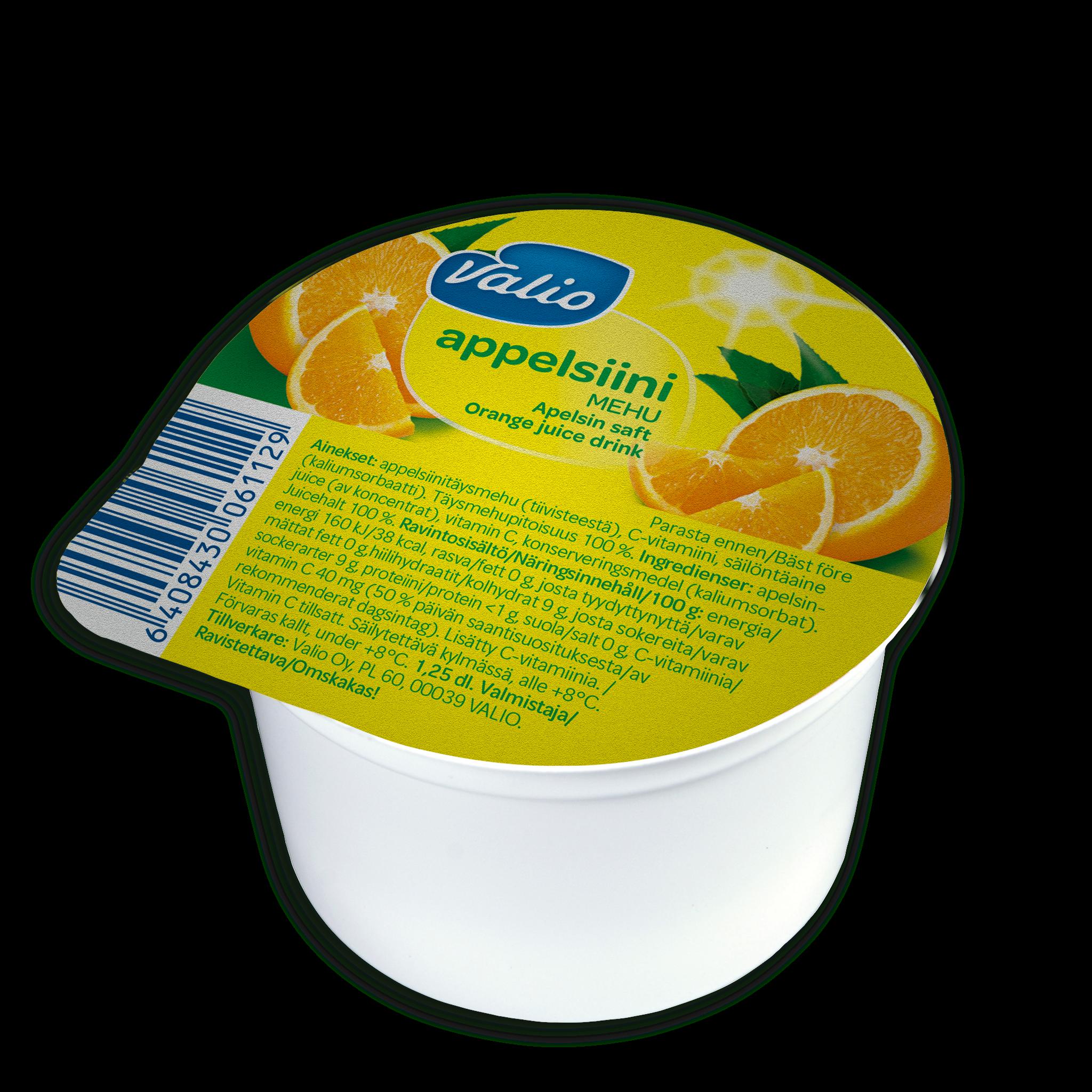 Valio appelsiinimehu pikari