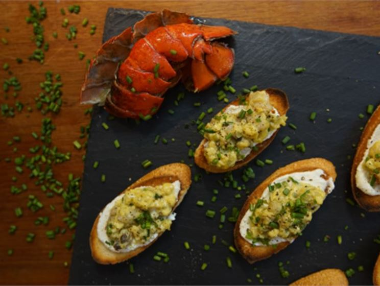 Lobster Egg Toasts