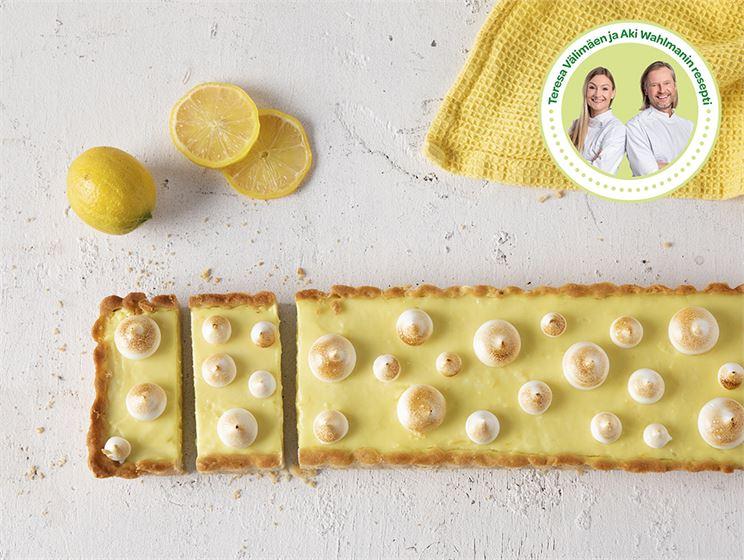 Vegaaninen vanilja-marenki-sitruunapiirakka