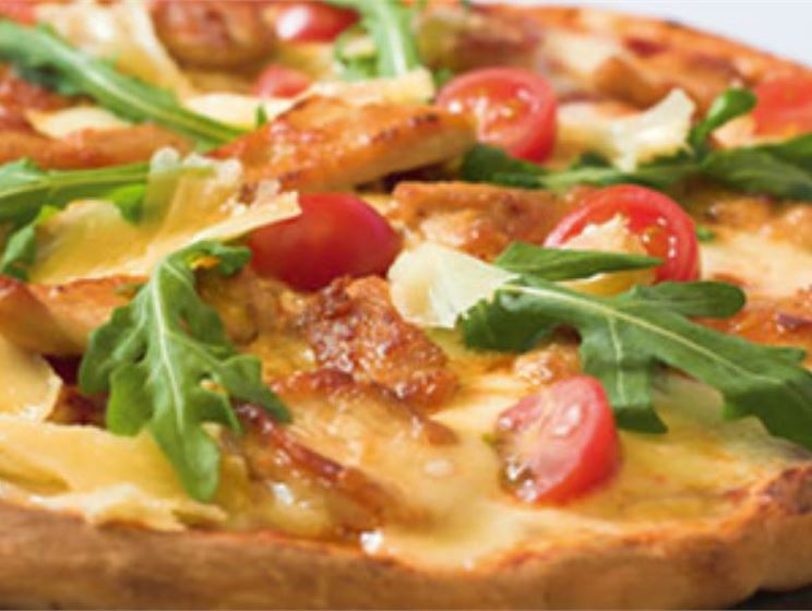 Bistro Swiss Cheese Pizza with Sausage