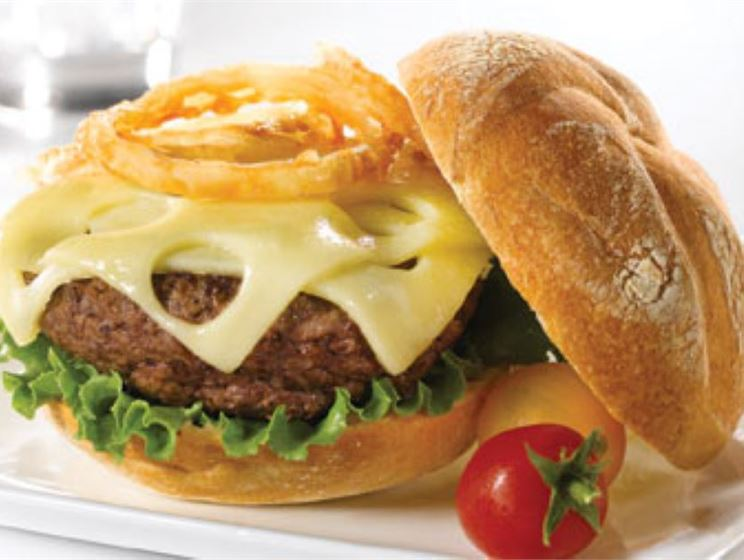 The Conqueror Burger with Swiss Cheese