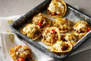 Broileritäytteiset nachot