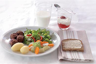 Lautasmalli on oiva apu aterioiden koostamiseen
