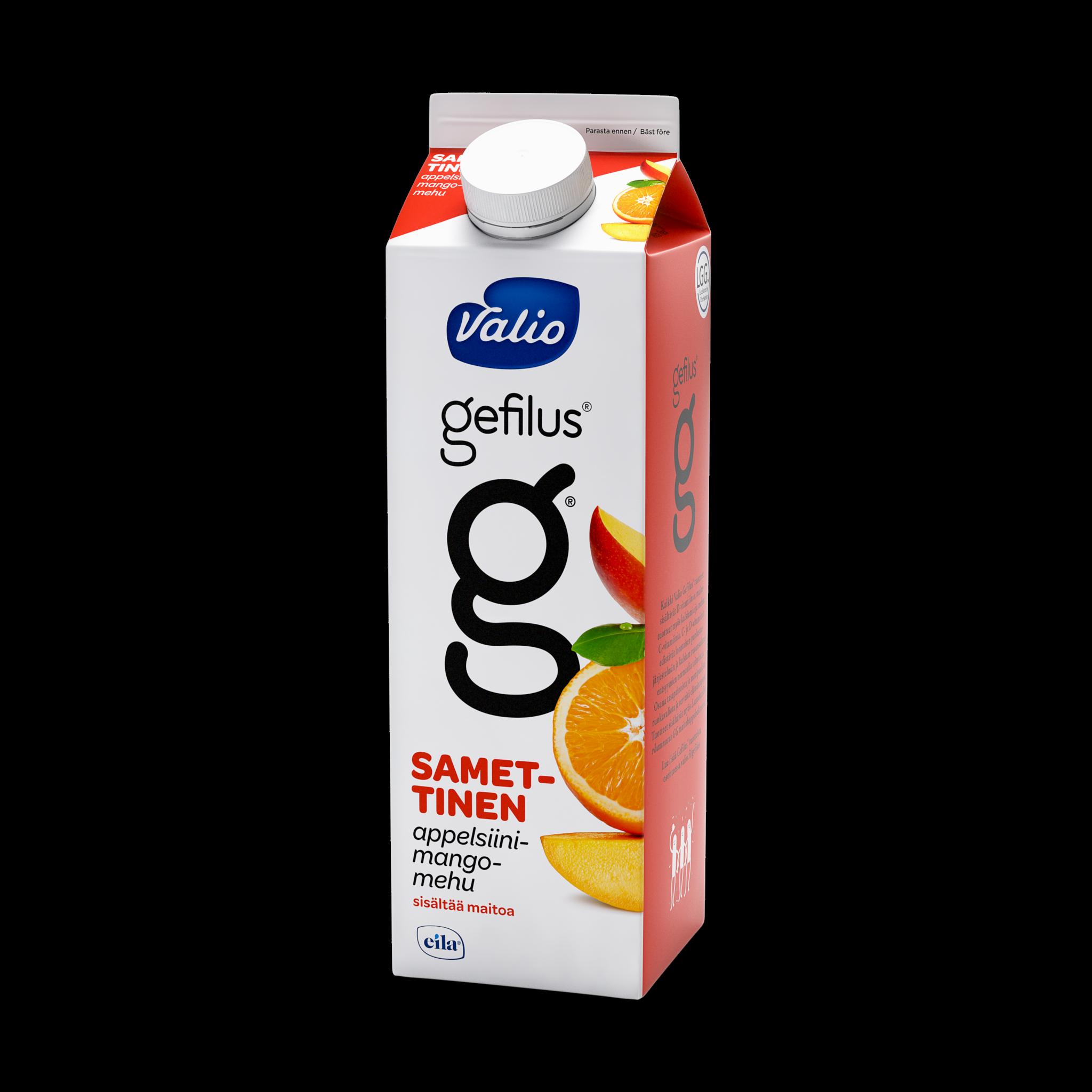 Valio Gefilus® mehumaito appelsiini-mango