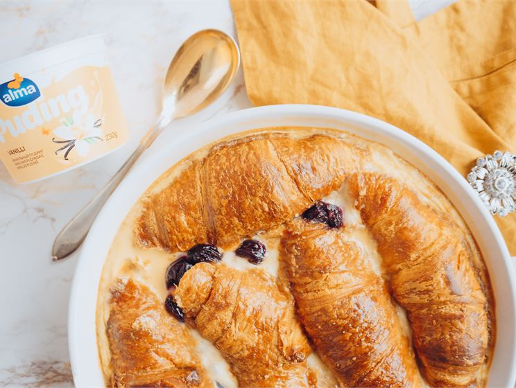 Kreemine croissantivorm