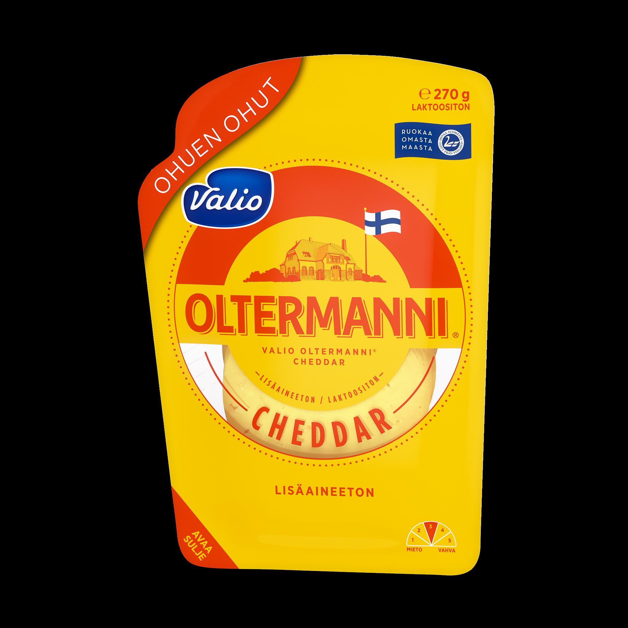 Valio Oltermanni® Cheddar juustoviipale