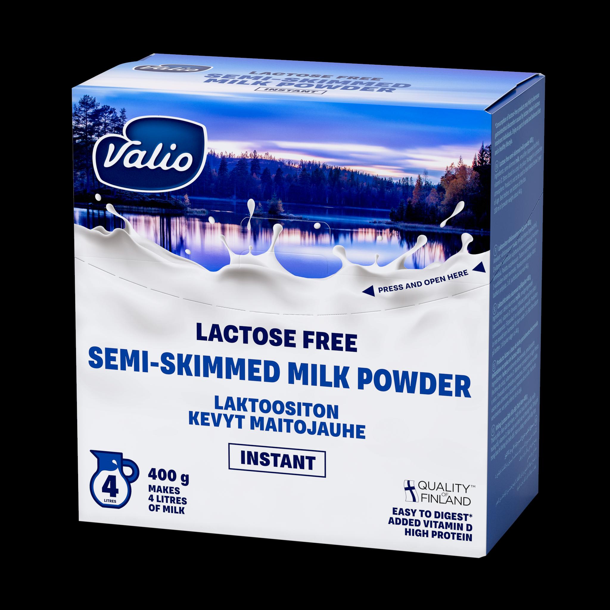 Valio laktoositon kevyt maitojauhe instant