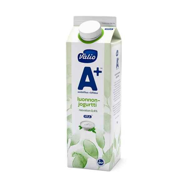 Valio A+™ luonnonjogurtti rasvaton HYLA®