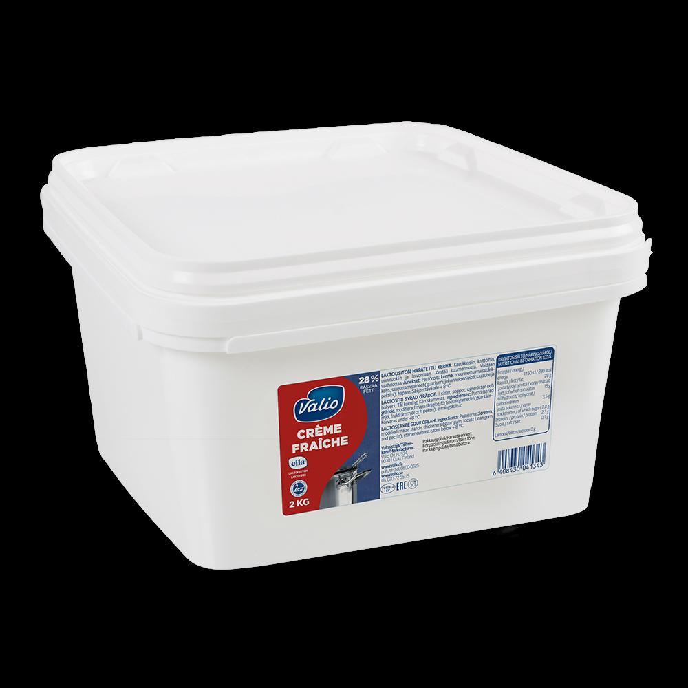 Valio crème fraîche 2 kg laktoositon