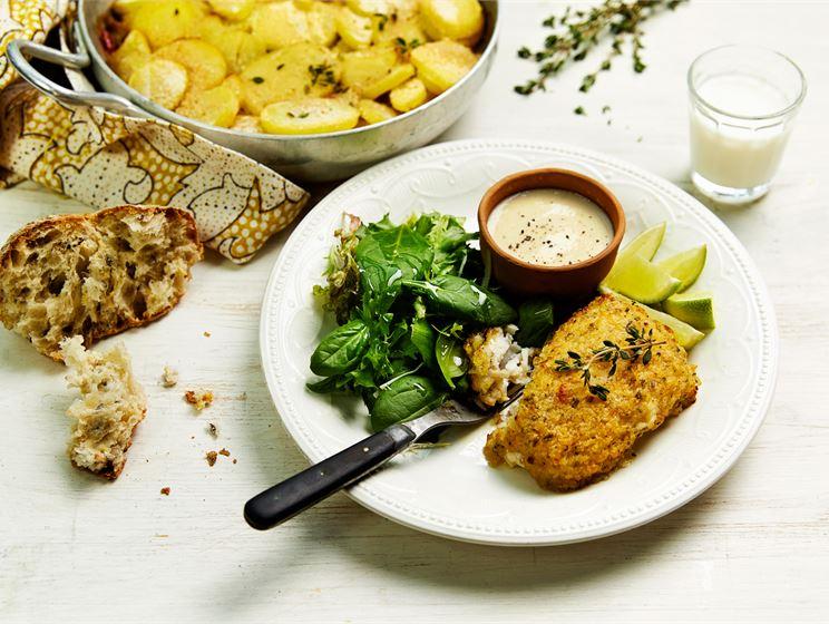 Provencen kalaa ja kananmunakastiketta