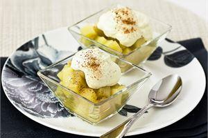 Calvados omenat & kanelikermavaahto