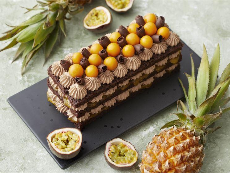 Ananas-passionsuklaakakku