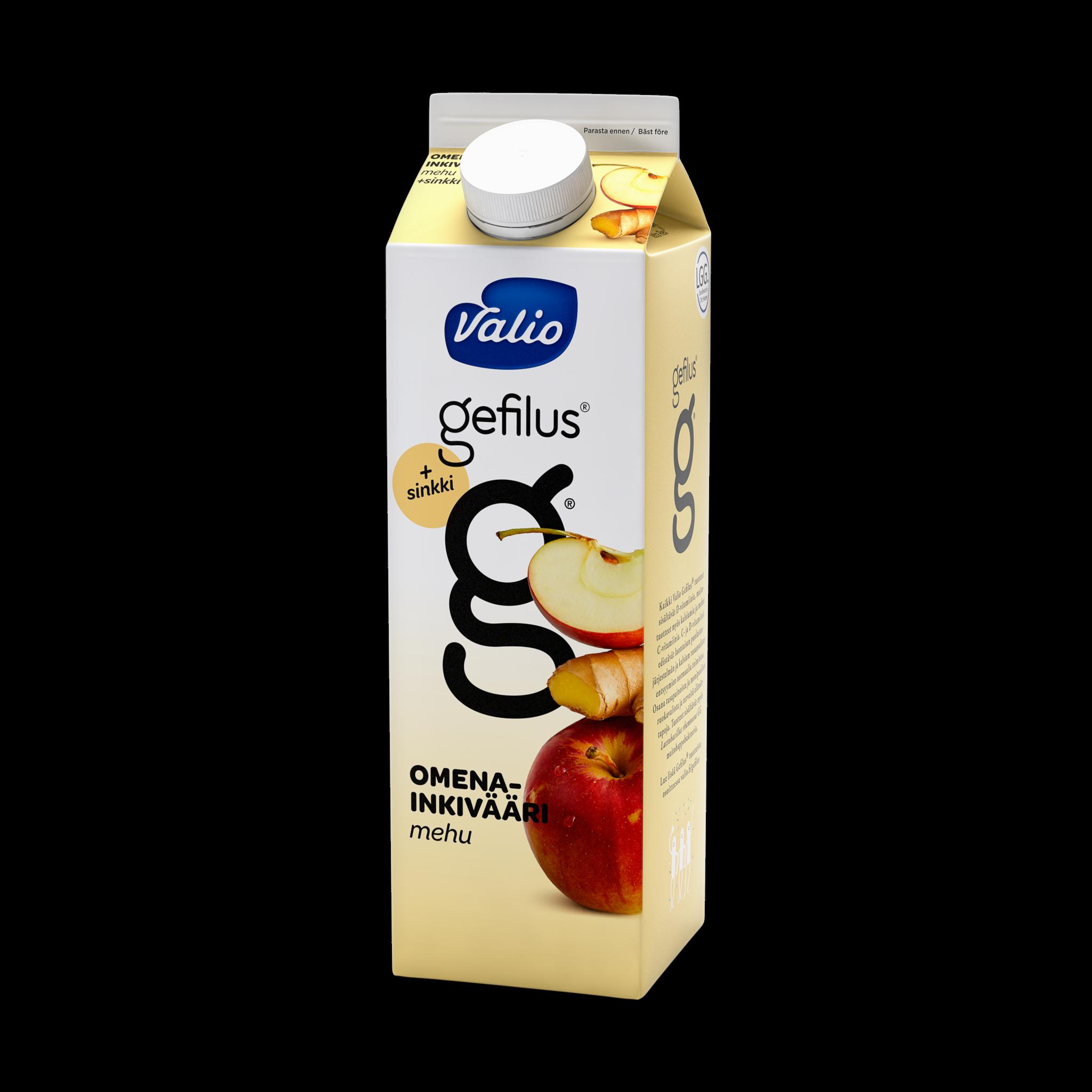 Valio Gefilus® mehu omena-inkivääri+sinkki