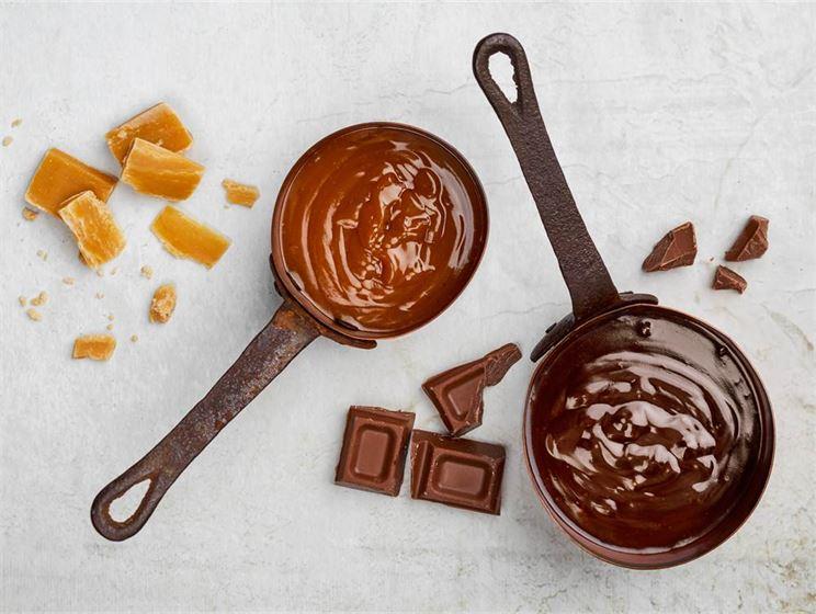Kola- och chokladglasyr