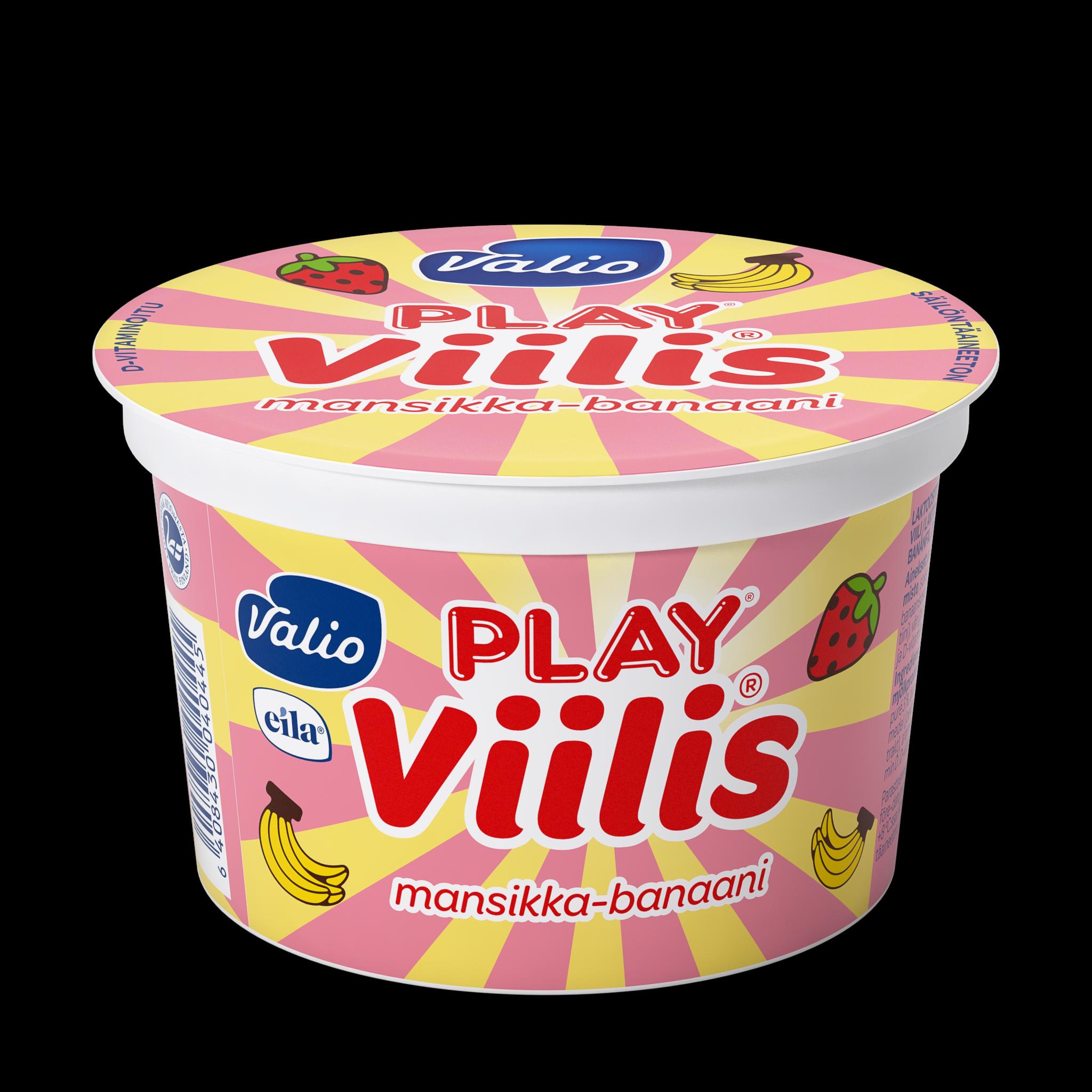 Valio Play® viilis® mansikka - banaani laktoositon