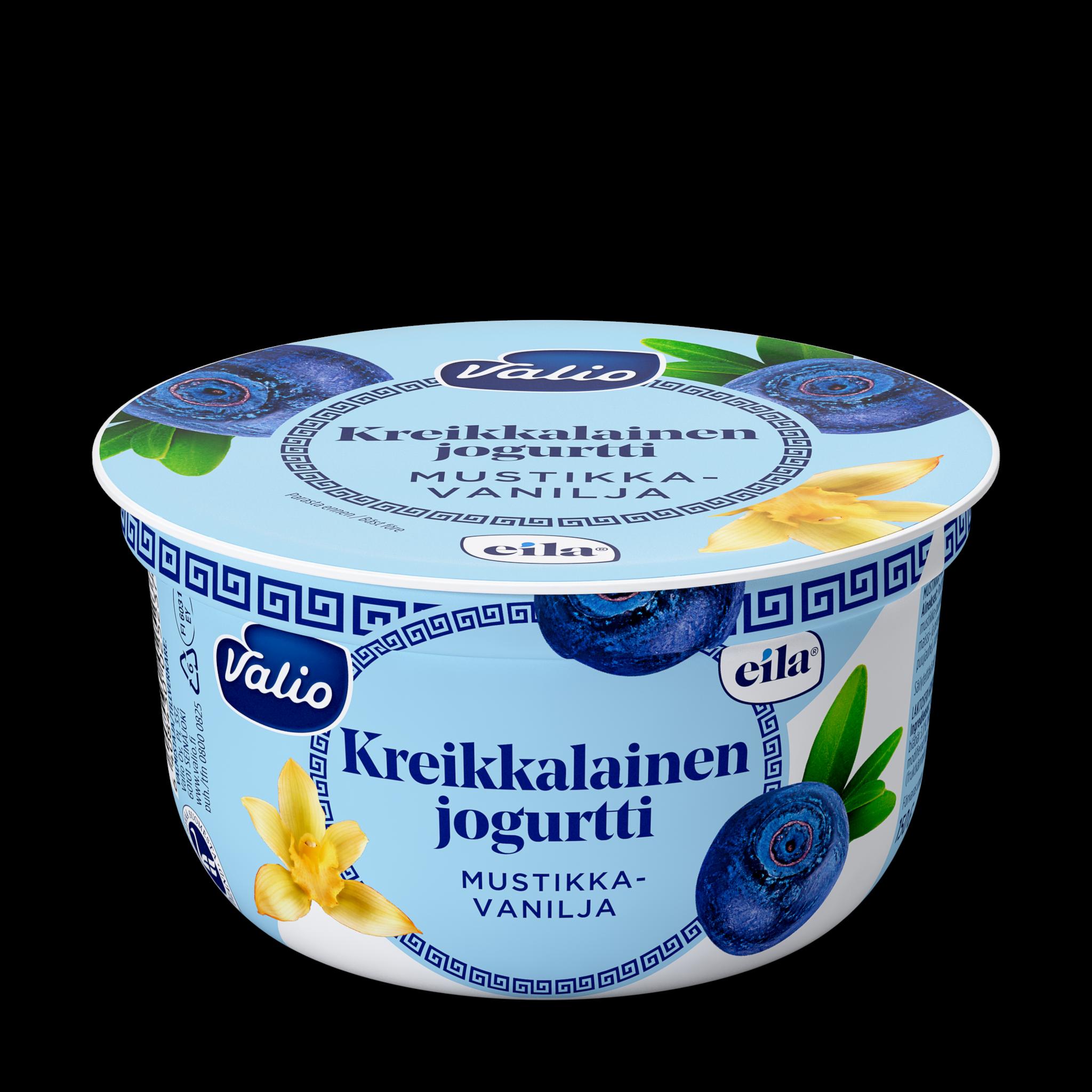 Valio kreikkalainen jogurtti mustikka-vanilja laktoositon