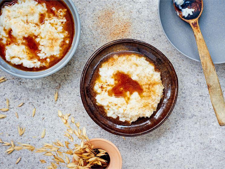 Vegaaninen riisipuuro
