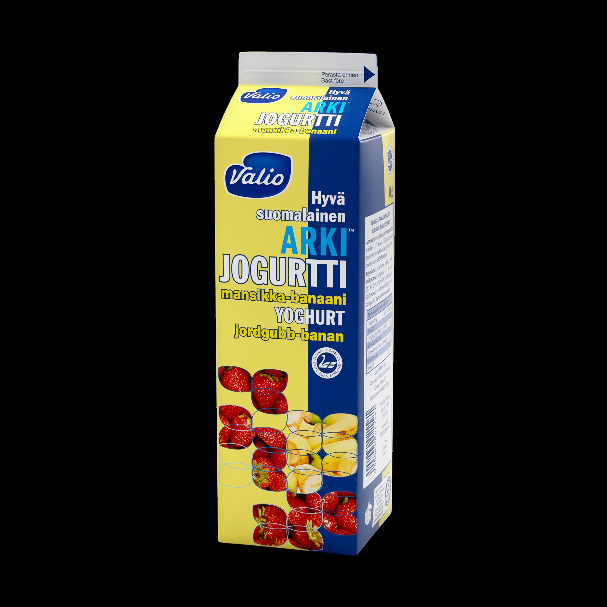 Valio Hyvä suomalainen Arki® jogurtti mansikka - banaani