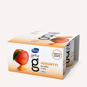 Valio Gefilus® jogurtti persikka laktoositon