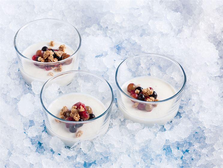 Marjainen jogurttipannacotta