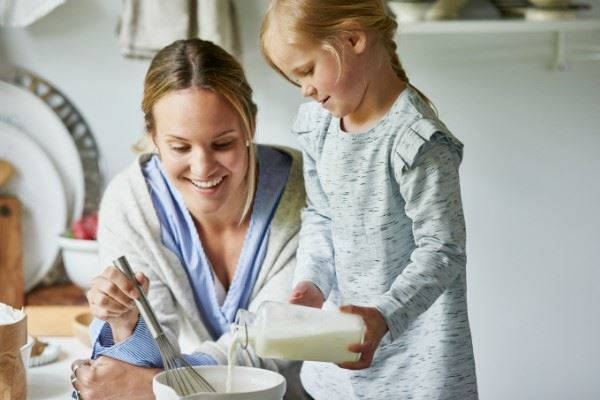 leivonta lasten kanssa