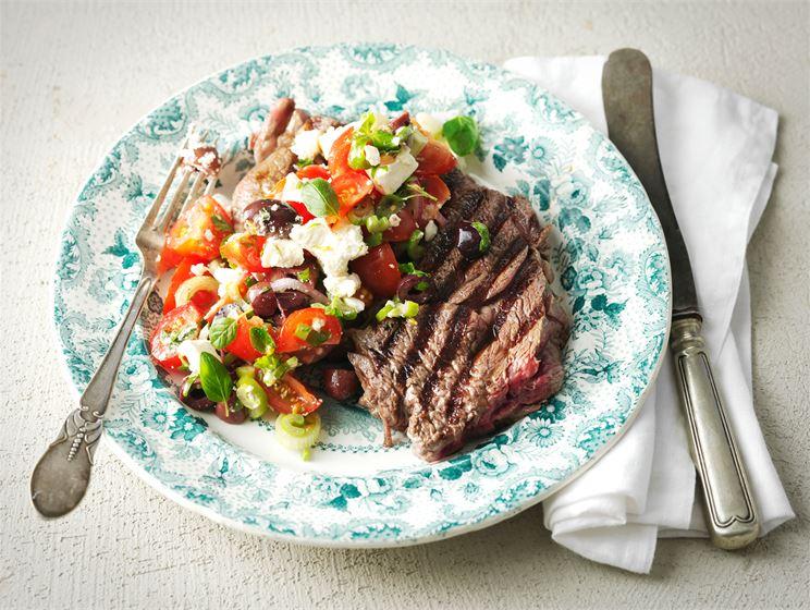 Entrecôte ja kreikkalainen salsa