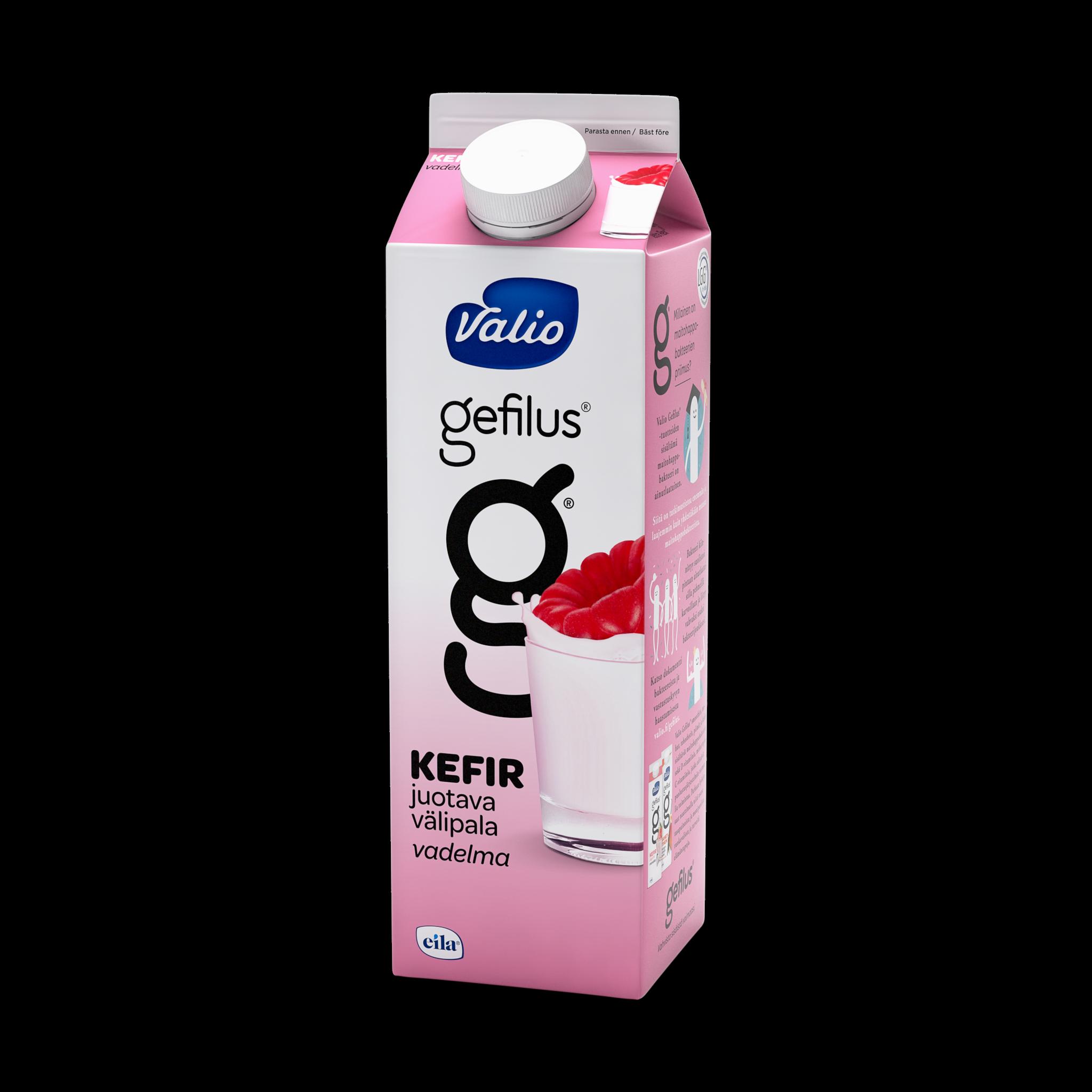 Valio Gefilus® Kefir vadelma laktoositon
