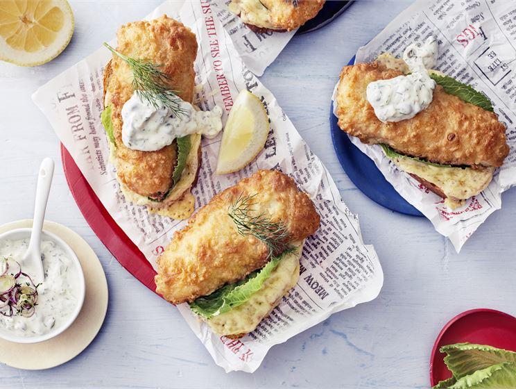 Lämpimät kalaleivät eli fish & bread