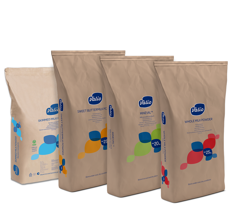 Valio milk powders