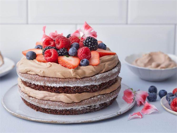 Enkel kladdkaketårta