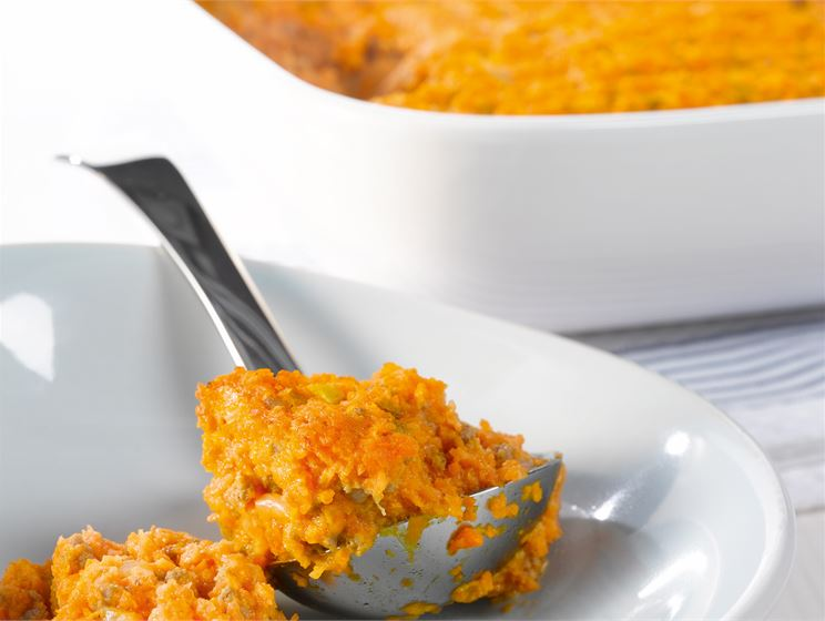 Jauheliha-porkkanasoselaatikko