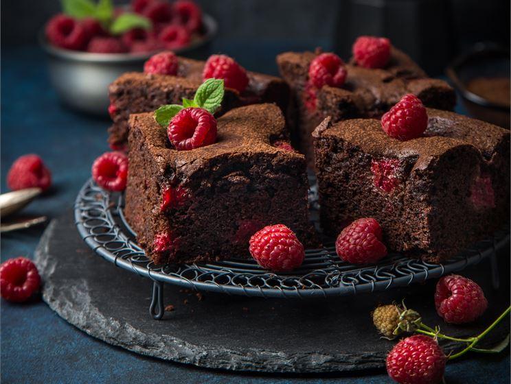 Lyxiga choklad & hallon brownies