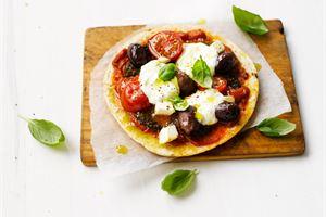 Kreikkalaiset pitapizzat