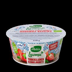 Valio Luomu™ turkkilainen kerrosjogurtti mansikka-basilika