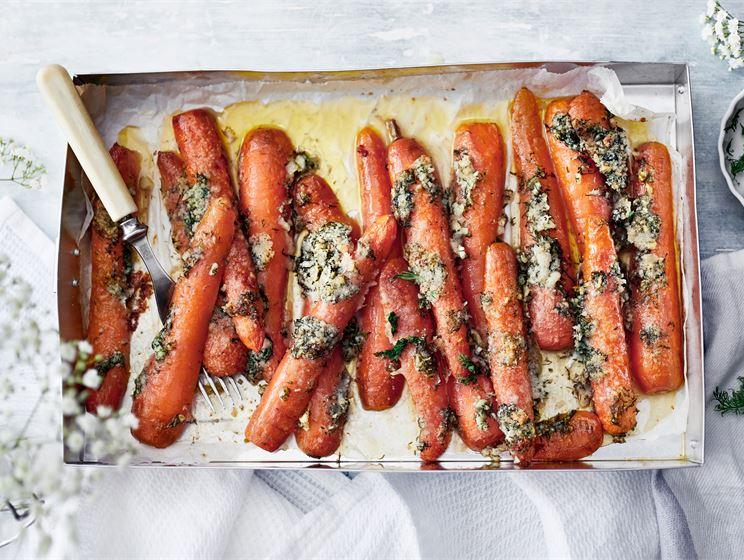 Paahdetut Oivariini porkkanat