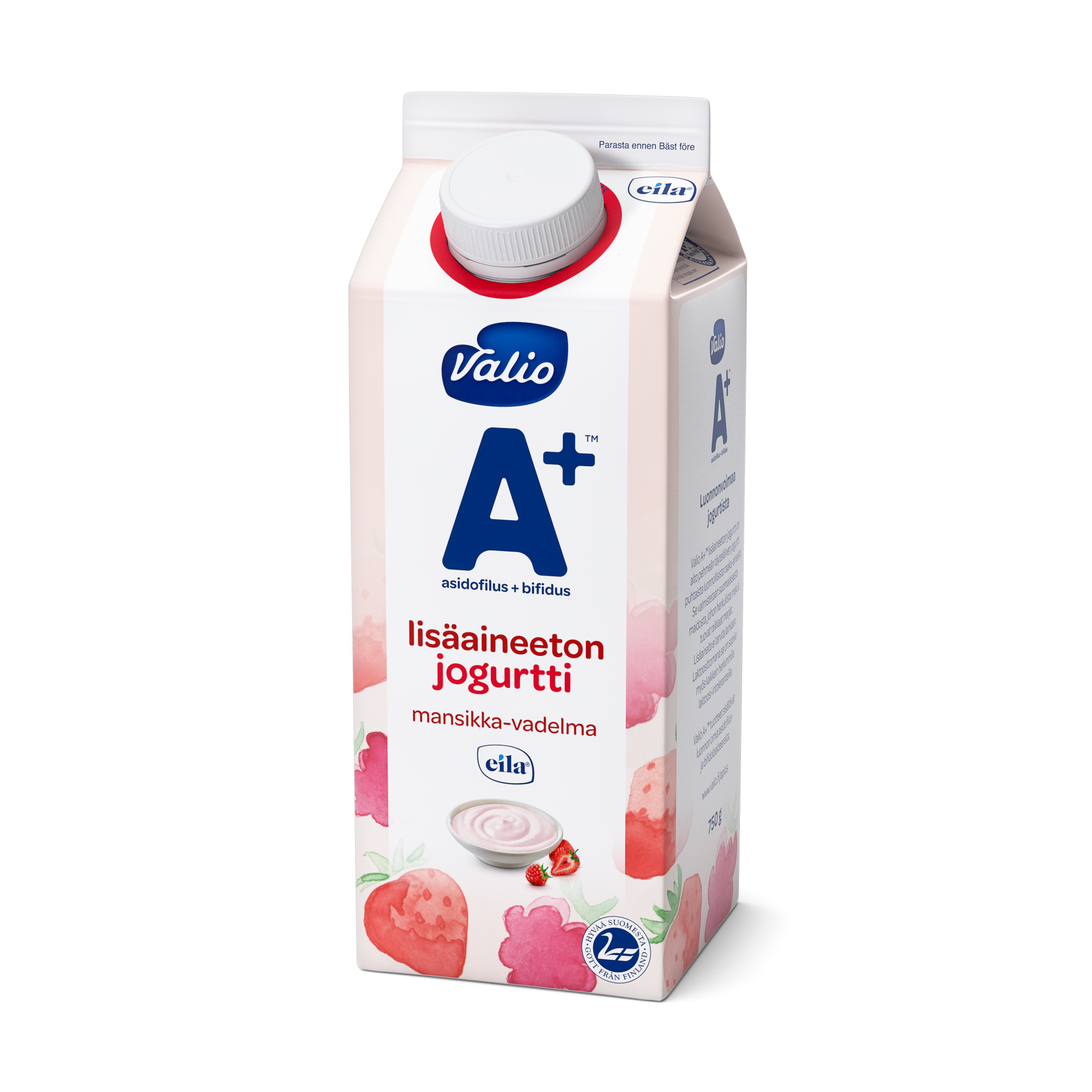 Valio A+™ lisäaineeton jogurtti mansikka-vadelma laktoositon