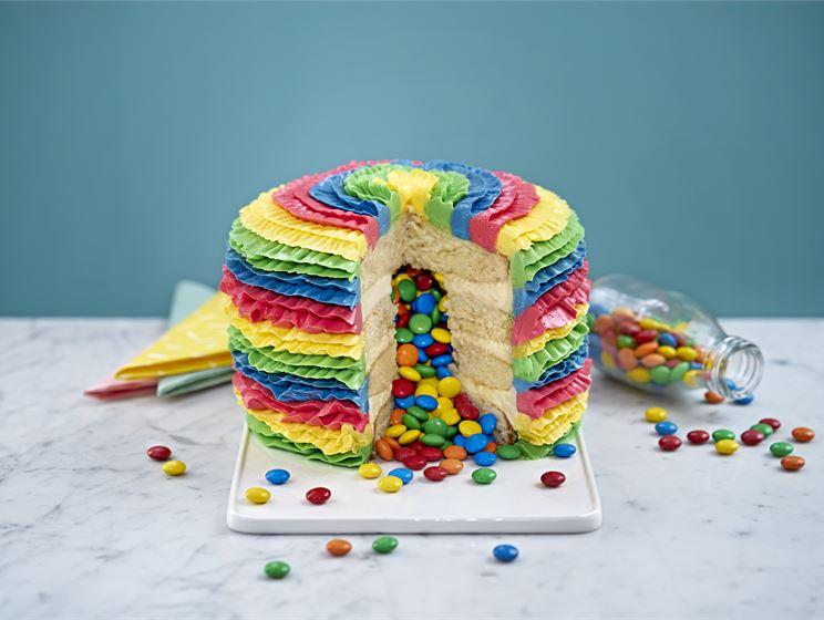 Piñata tårta