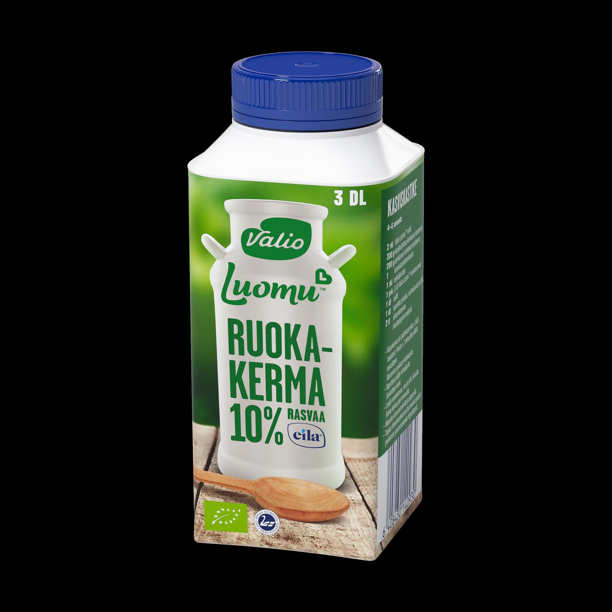 Valio Luomu™ ruokakerma 10 % laktoositon