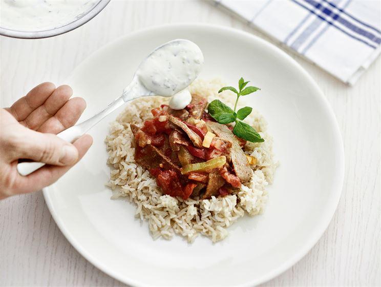 Kebab kastike (riisille)
