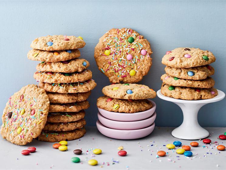 Värikkäät kauracookiet