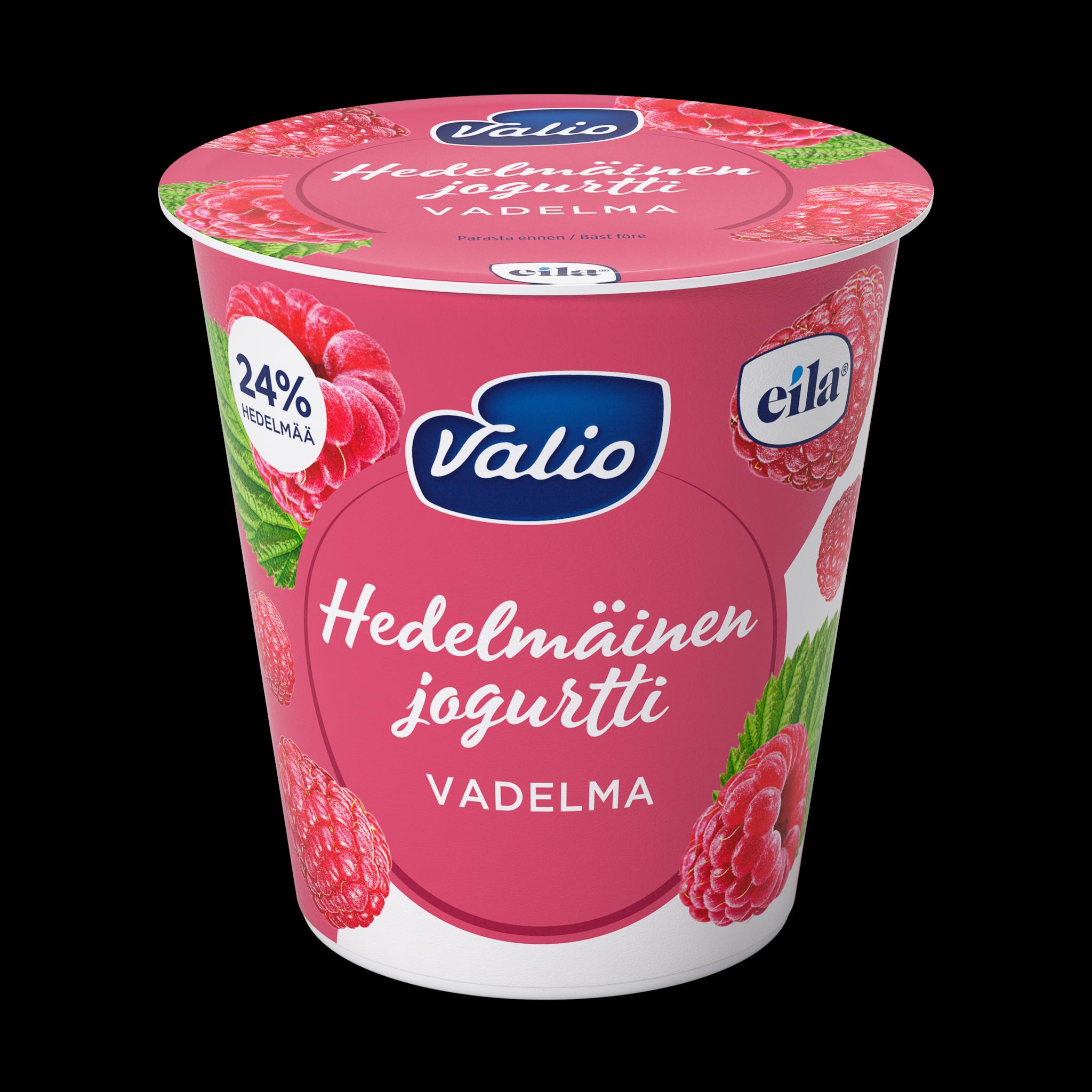 Valio hedelmäinen jogurtti vadelma laktoositon