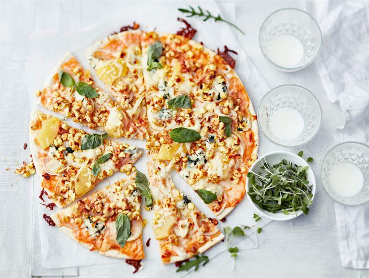 Keltainen Mifu pizza