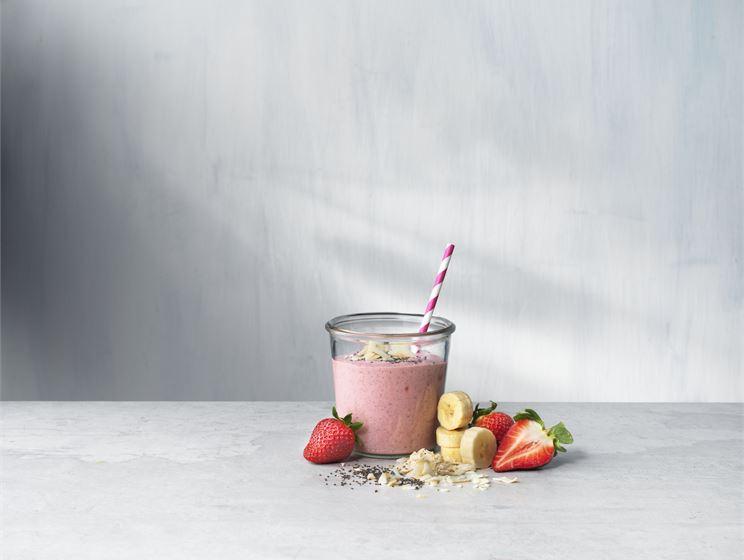 Jordgubb & kokos smoothie