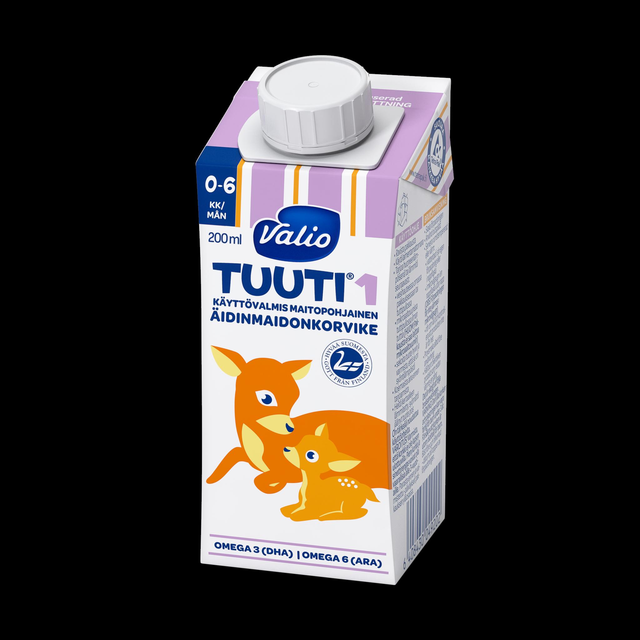 Valio Tuuti® 1 maitopohjainen äidinmaidonkorvike UHT