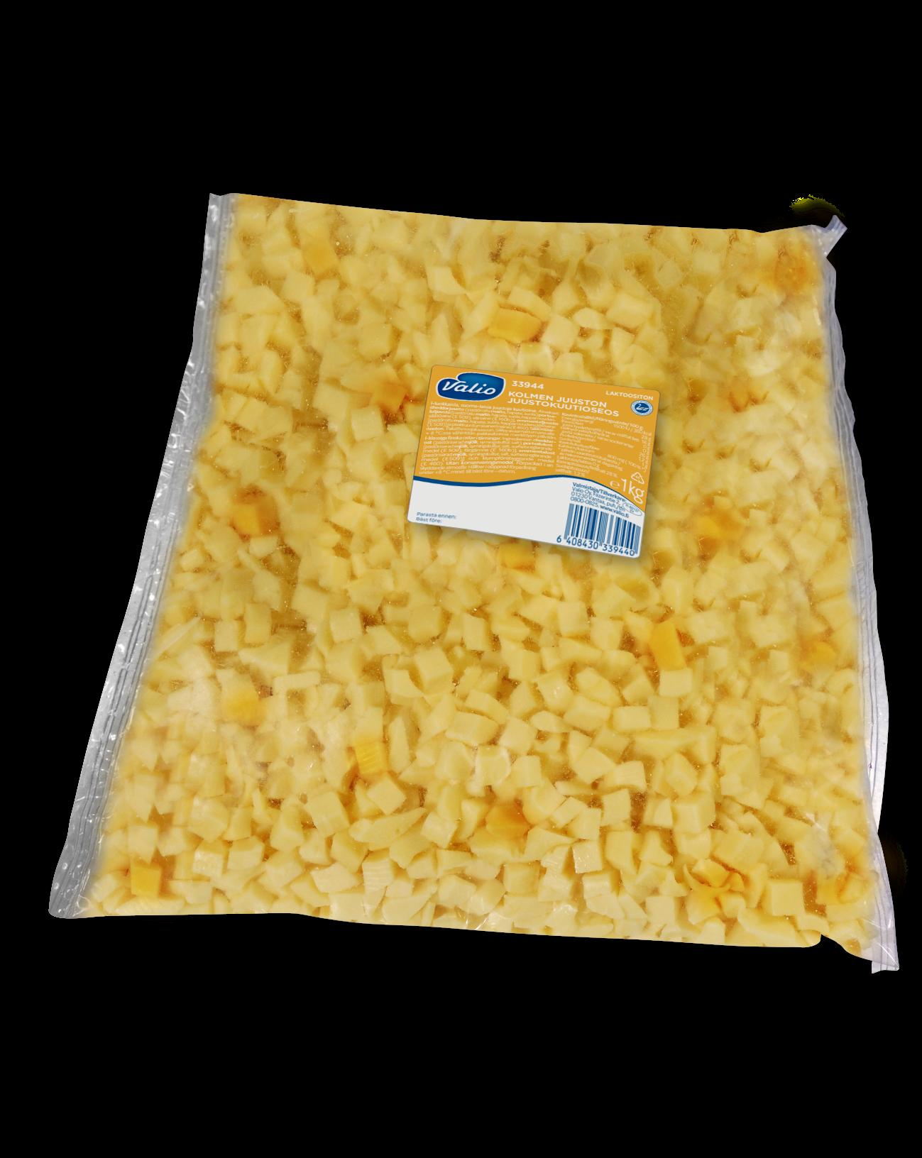 Valio Kolmen Juuston juustokuutioseos laktoositon
